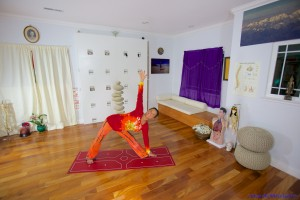 Room with a yoga view